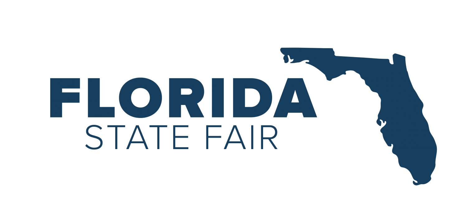 Florida State Fairgrounds Logo Navy Blue