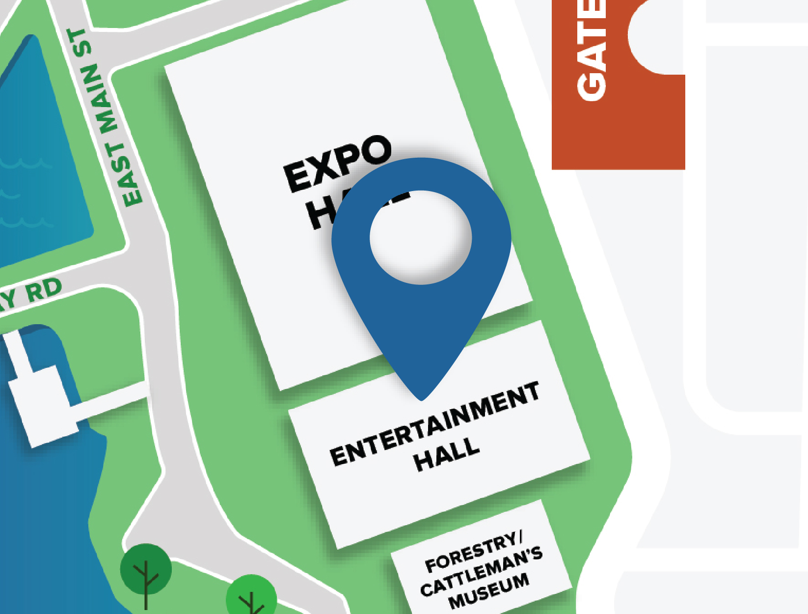 Entertainment Hall Map Location