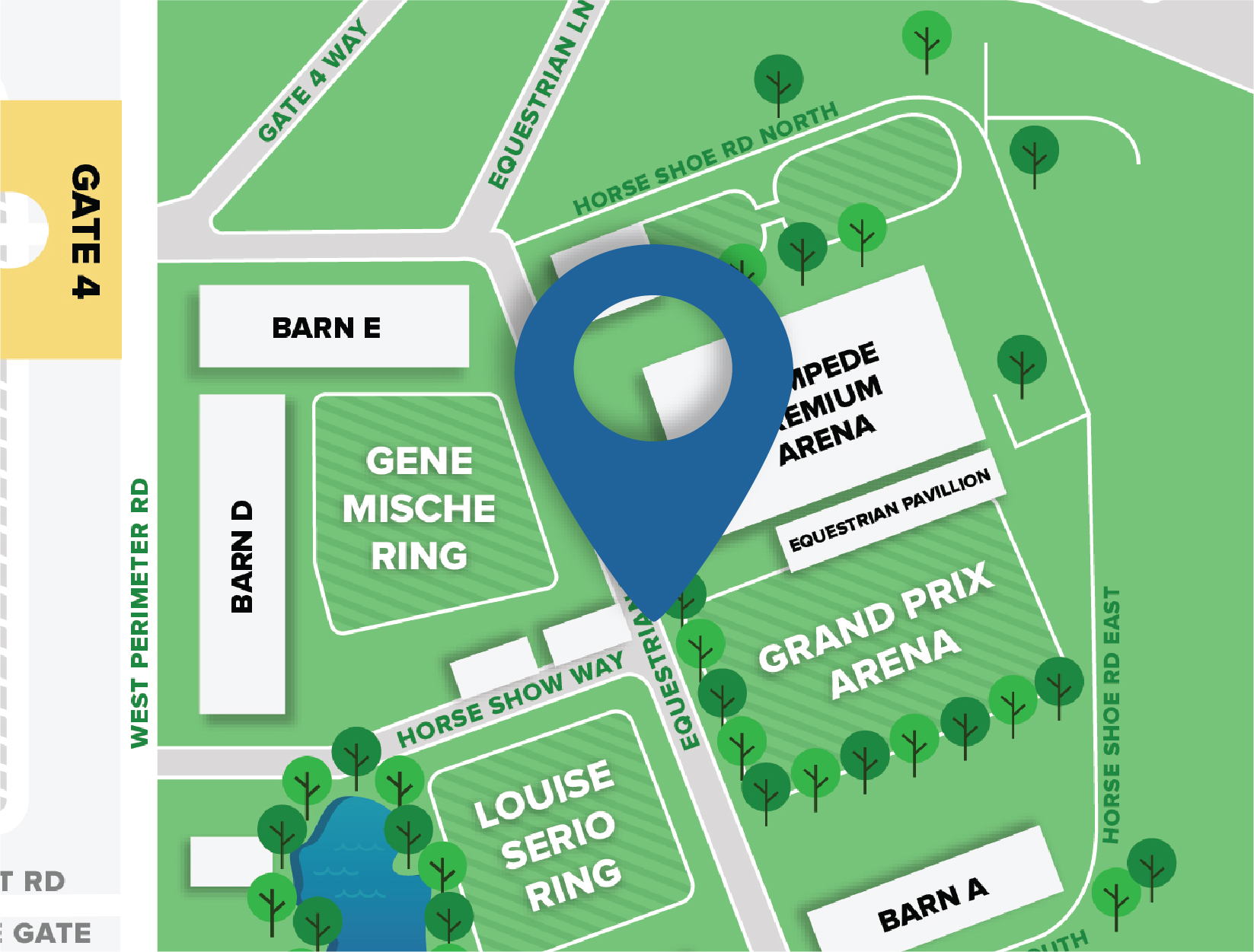 The Bob Thomas Equestrian Center Location Map