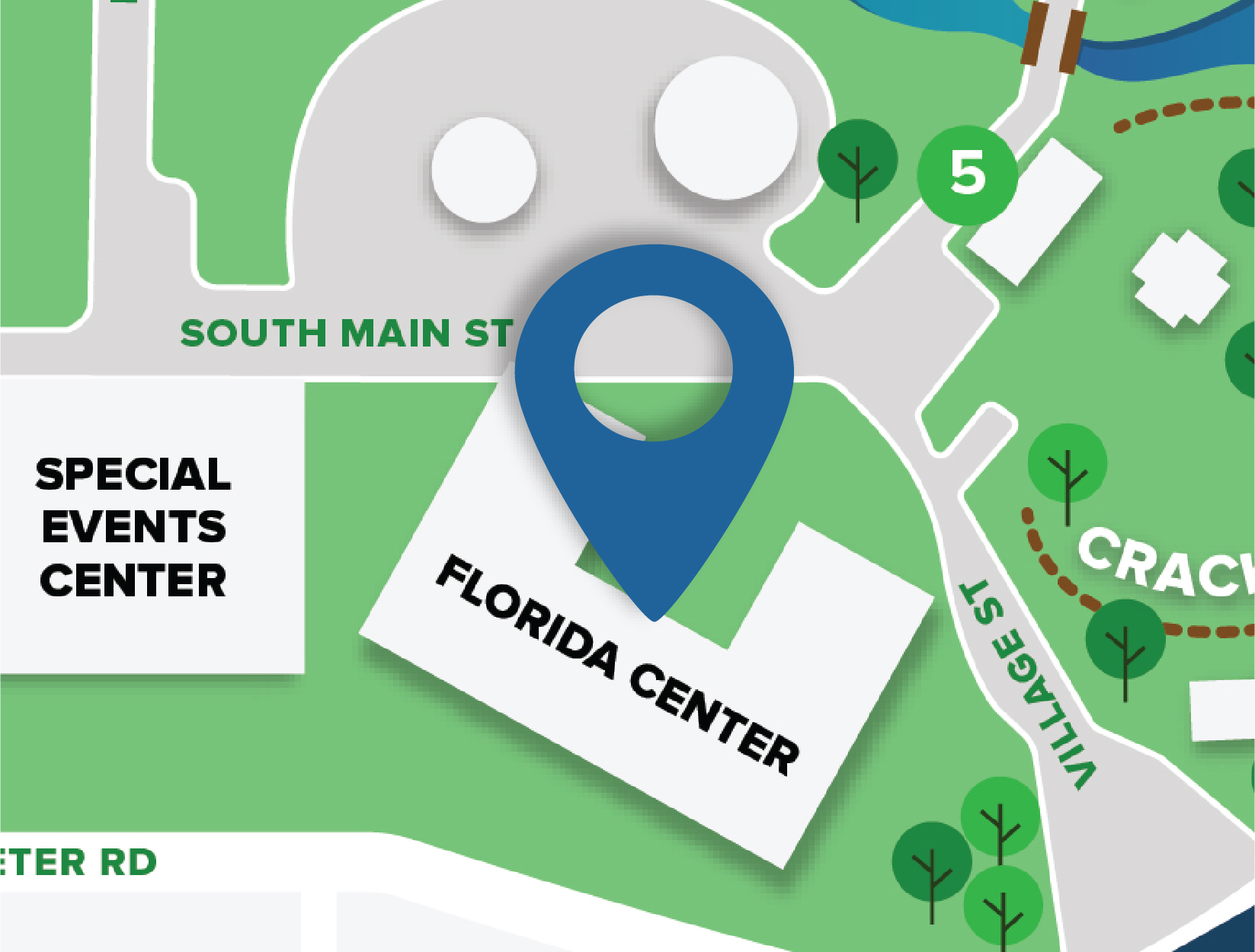 Florida Center Map