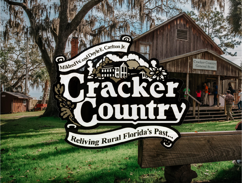 Cracker Country Logo with General Store Photo