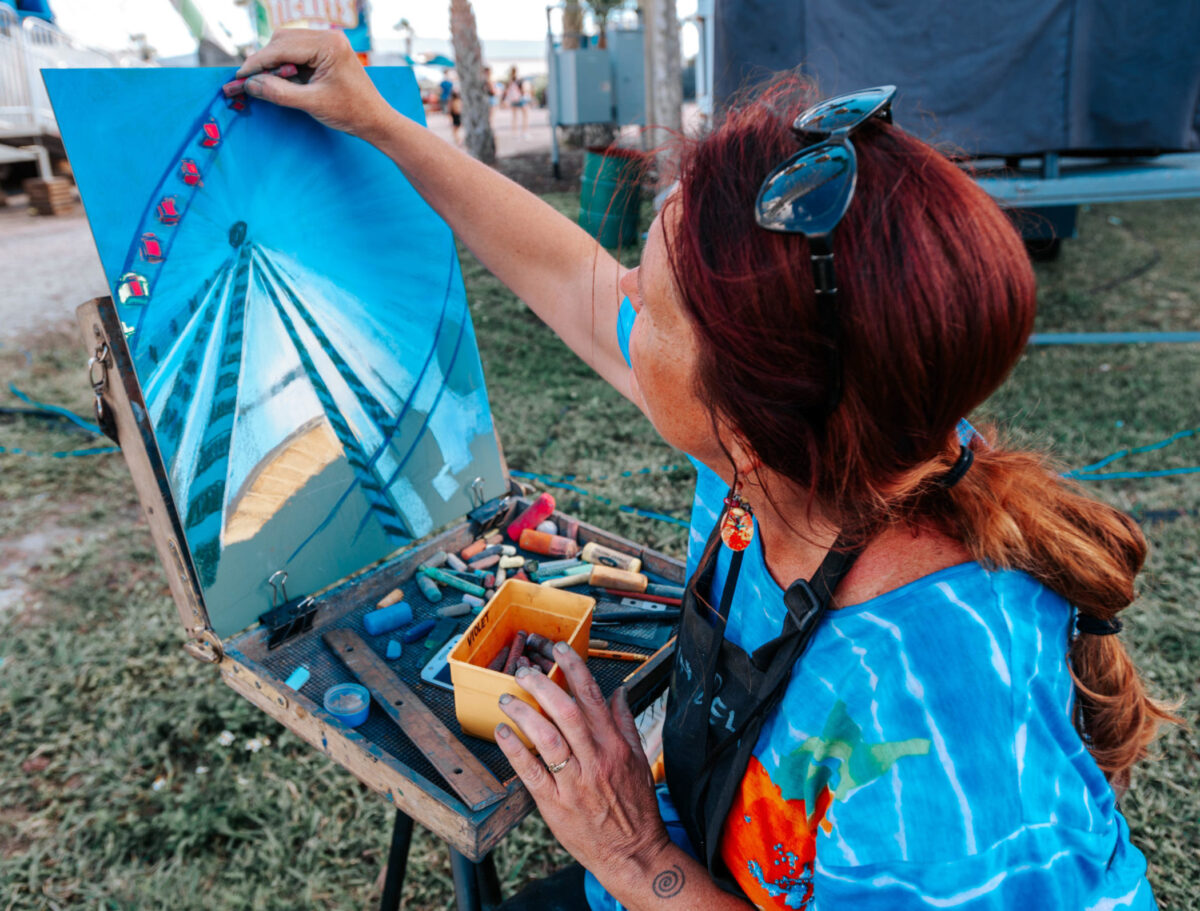 Artist Drawing the Midway Sky eye
