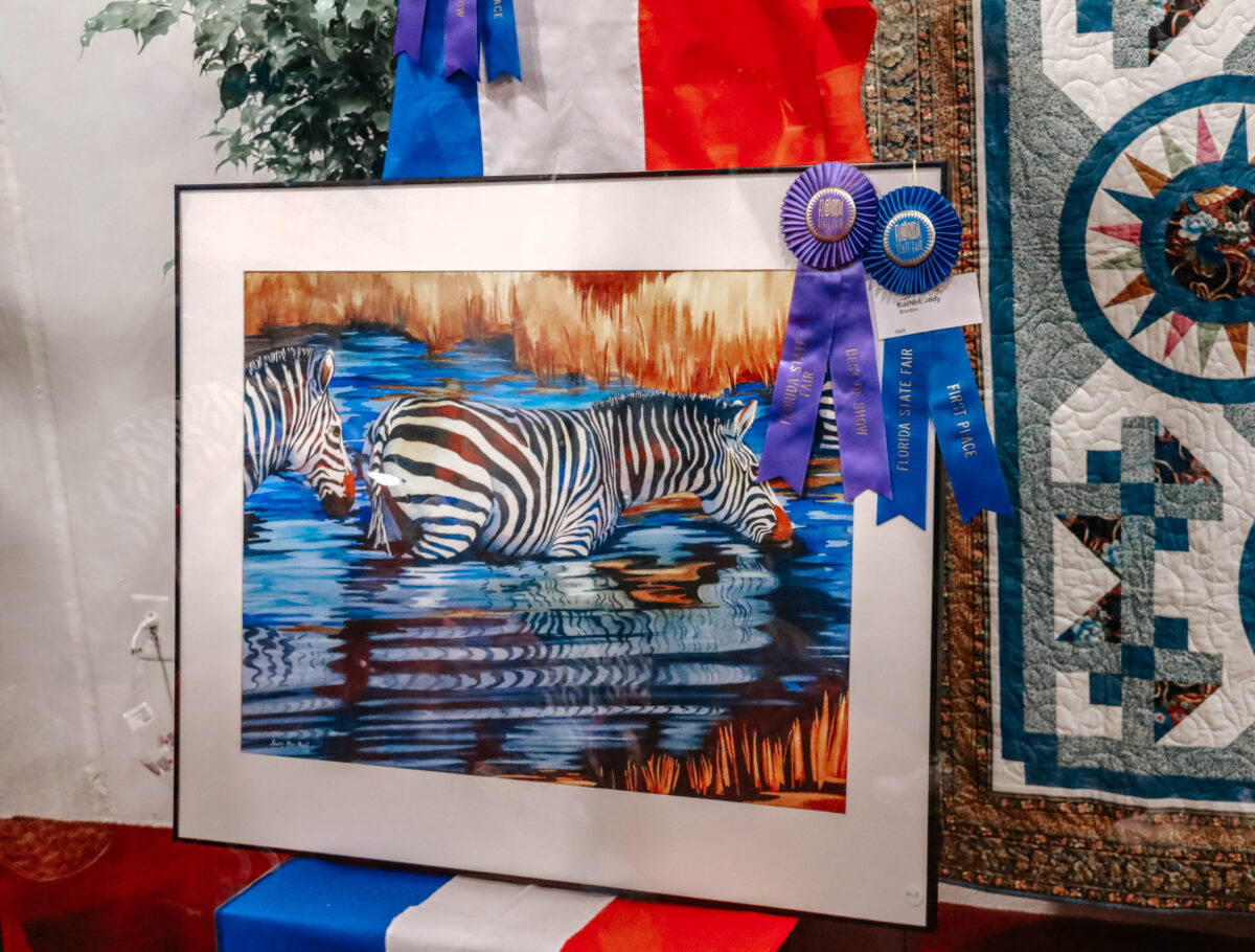 Painting of Zebra